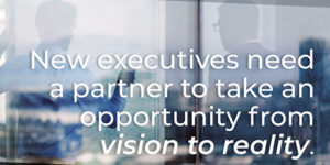 New executives need a partner to take an opportunity from vision to reality