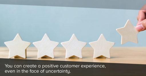 Customer giving brand 5 star rating